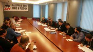 Décembre 2015 : L'Alliance pour la Paix et la liberté, parti pan-européen, dont NATION fait partie, est reconnu par le Parlement Européen.