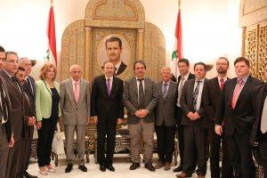 NATION participe à un nouveau voyage officiel en Syrie.