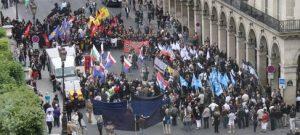 8 mai 2011 : 1500 nationalistes européens défilent à Paris sur 3 thématiques. La délégation de NATION s'y fait nettement remarquer.