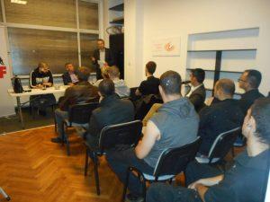 À Bruxelles où l'APF a tenu une soirée d'information sur la situation en Grèce et sur le parti « Aube Dorée » trop souvent calomnié par les médias.