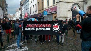 Cette conférence, à laquelle participa l'euro-député grec Synadinos, fut un succès (photo 1) malgré les menaces et une contre-manifestation gauchiste