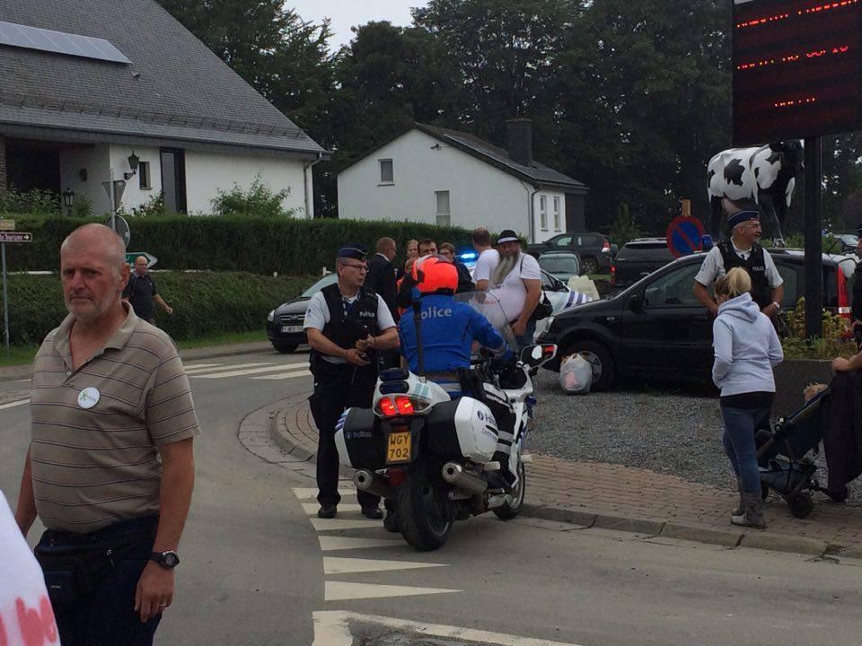 NATION à la foire agricole de Libramont... malgré la police aux ordres !
