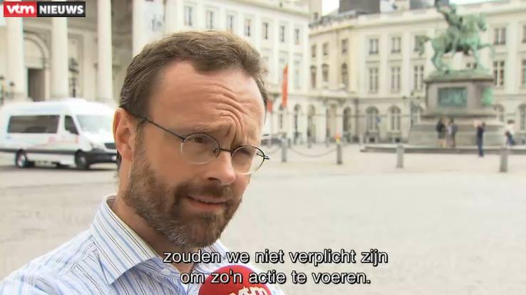 Hervé Van Laethem (NATION) sur VTM