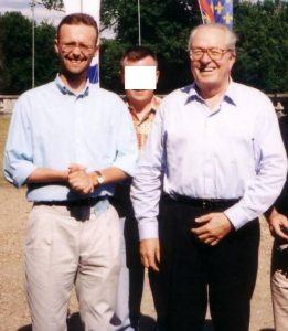Hervé Van Laethem avec Jean-Marie Le Pen